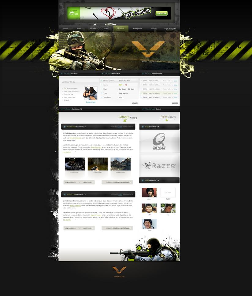 Counter Strike Evo 2.0 Design by JonasIngebretsen