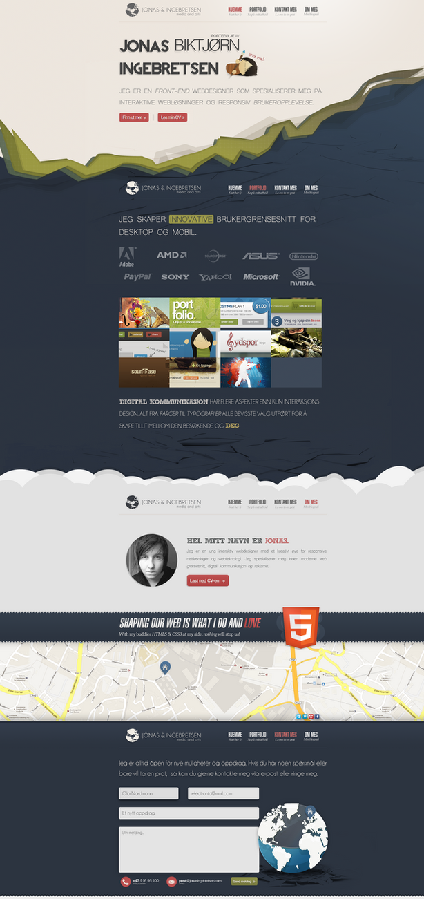 PORTFOLIO 2013 - WEB DESIGN by JonasIngebretsen