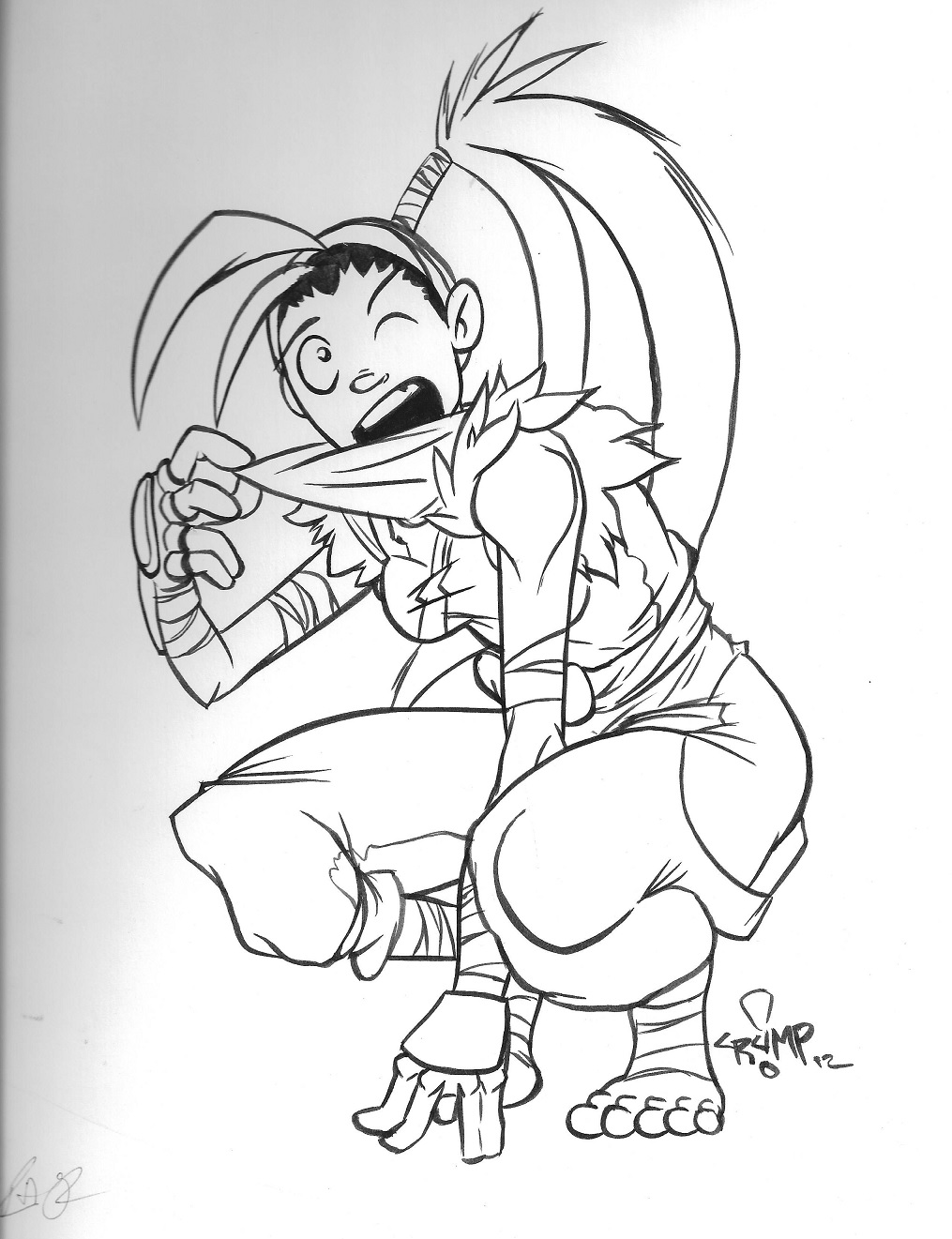Free Ibuki Sketch by Philly Phats by Estonius