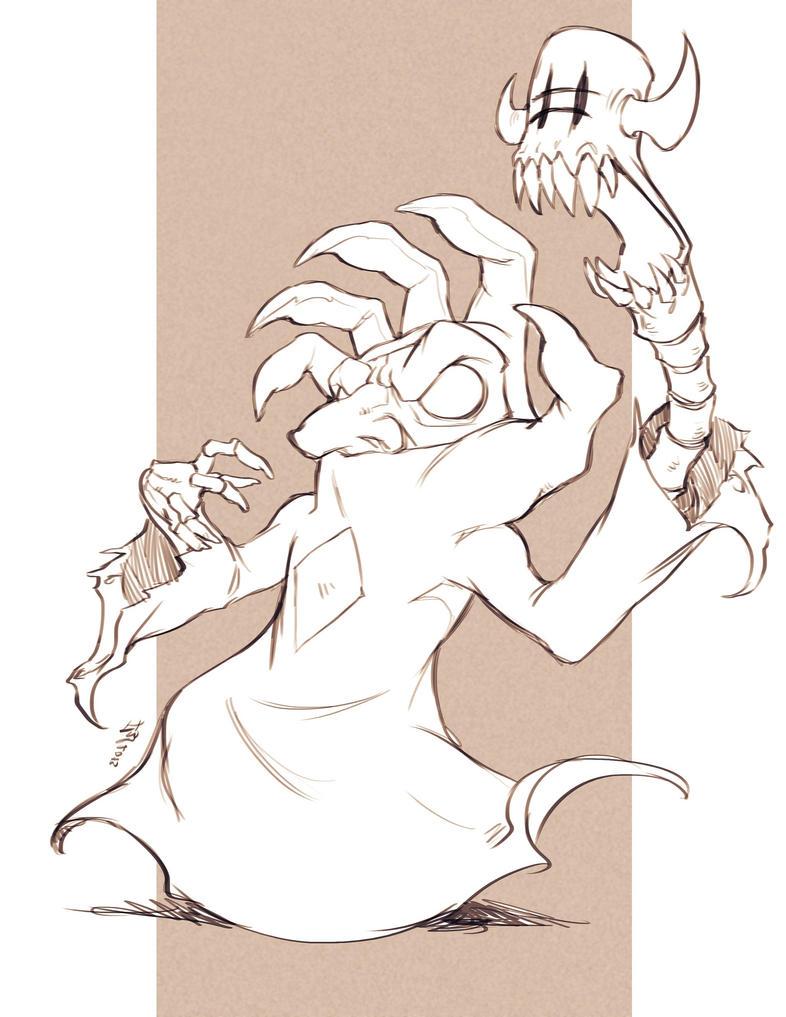 EST'z Mano de Muerte Sketch by Felsus! by Estonius