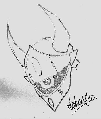 EST0'z Dengeki Ryouji Head Sketch by Rene Cordova! by Estonius