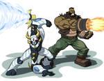 Dengeki Ryouji and Barret Wallace! By Usman Hayat!