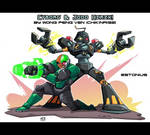 Robo Team-Up: Cyborg x Jodo Hirzx! By Chikinrise!