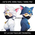 Cat's Eye: Neko Yang  + Neko Yin! By Runshin! by Estonius