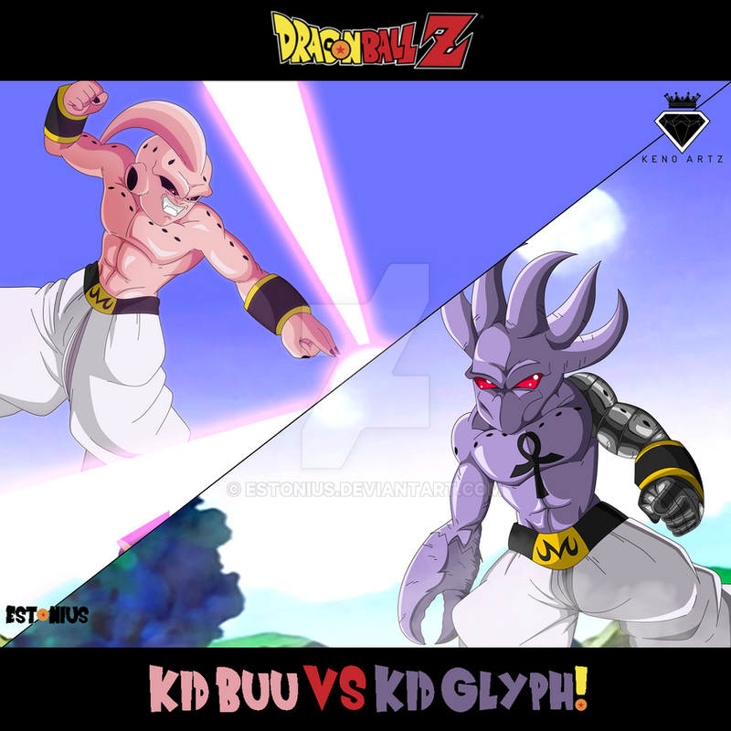 Dragon Ball Z Kid Buu Vs Kid Glyph By King Keno By Estonius On