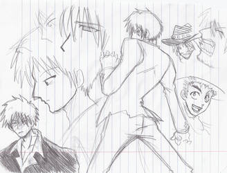another wolfwood page doodle by Marimokun