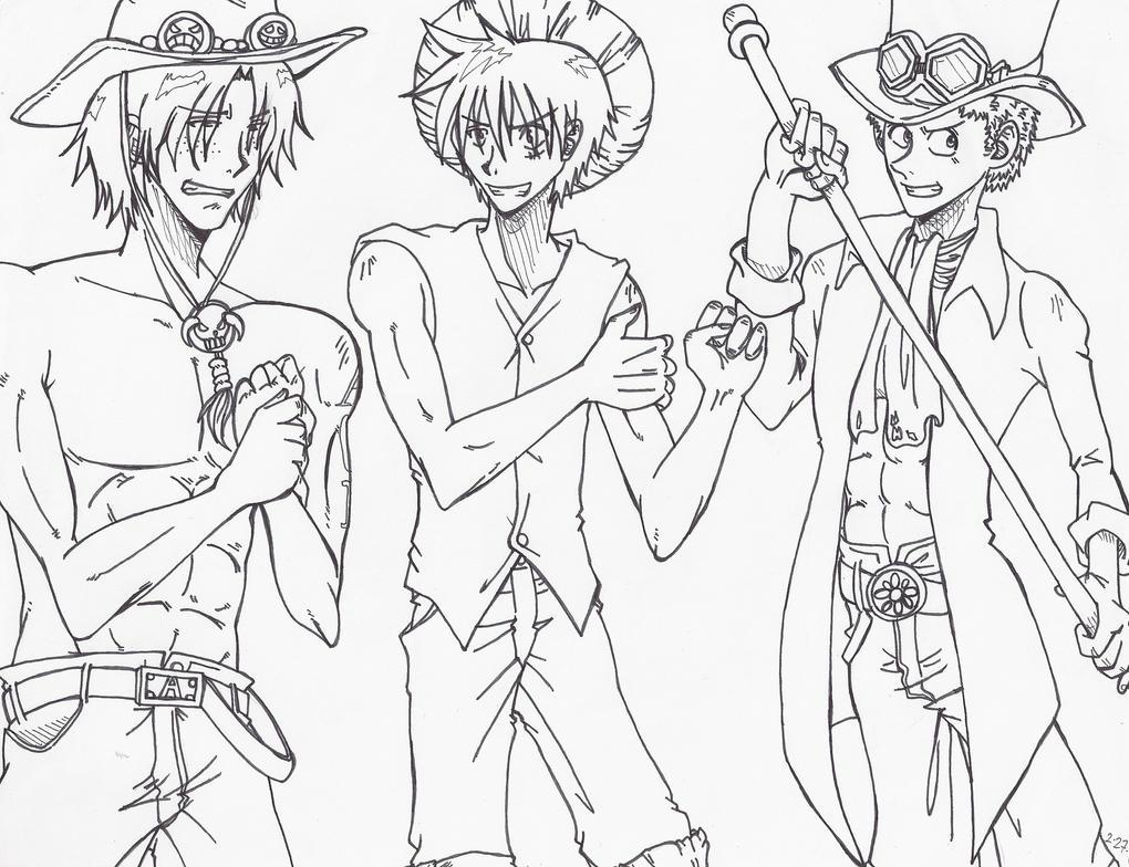 Coloriage One Piece Sabo