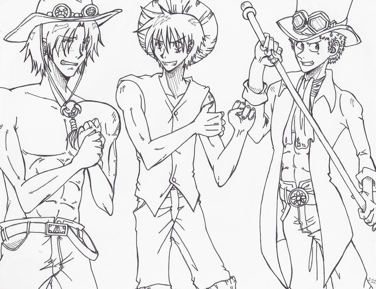 Marimokun Ace Luffy Sabo by Marimokun