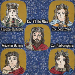 Byzantine emperor Leo VI the Wise and his 4 Wives