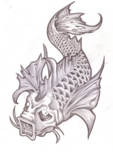 Gallery evil koi fish tattoos designs for Coy fish designs