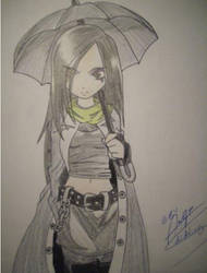 Umbrella Gothic Girl