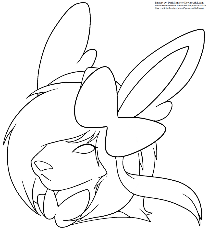 Coloring Lineart : Pokemon sylveon mspaint lineart by darksinnister on