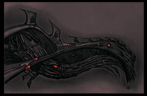 Biomech Squid by Chaostouched