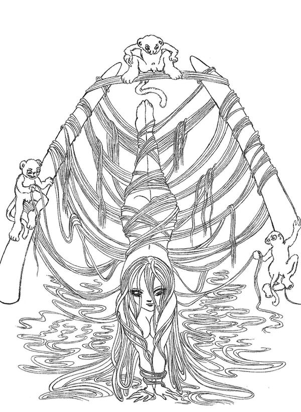 water fairies coloring pages - photo#18