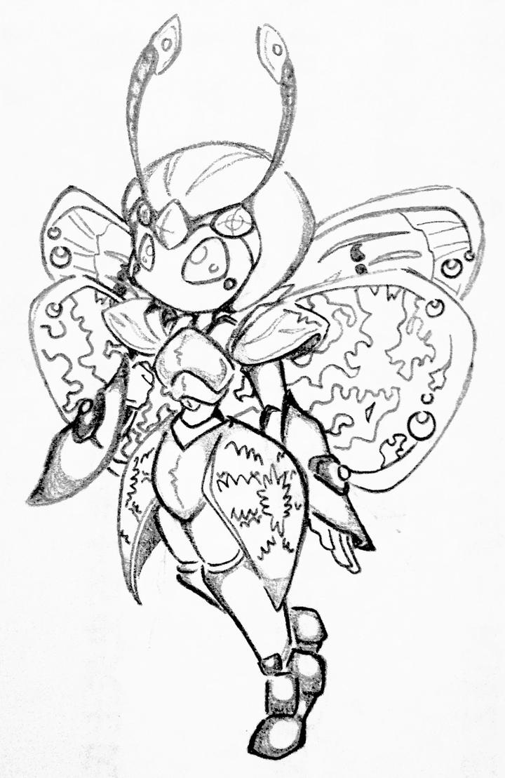 Butterfly medabot by CrissyG