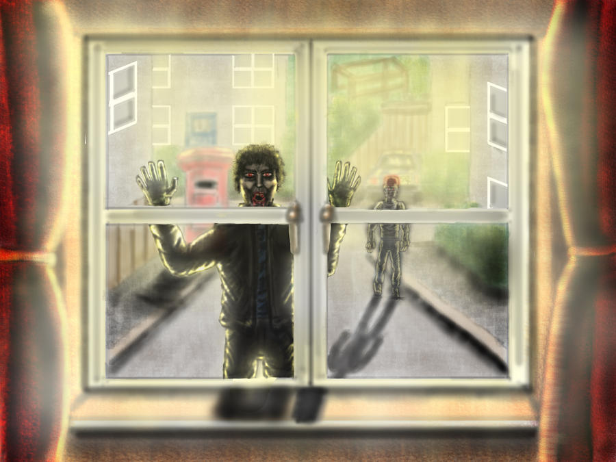 Look outside the window zombies by artdragon88 on for House look from outside