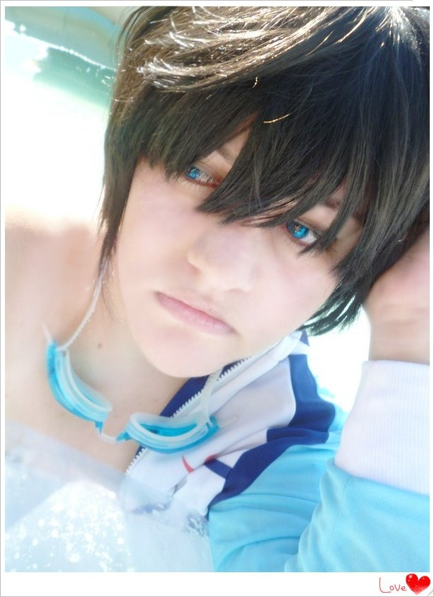 Haruka Nanase (improvised) cosplay by ButtersAnKau