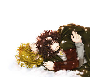 Snow Hobbits by mucun