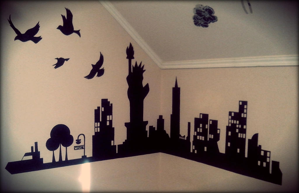 New York Wall Painting By B Vicky On Deviantart