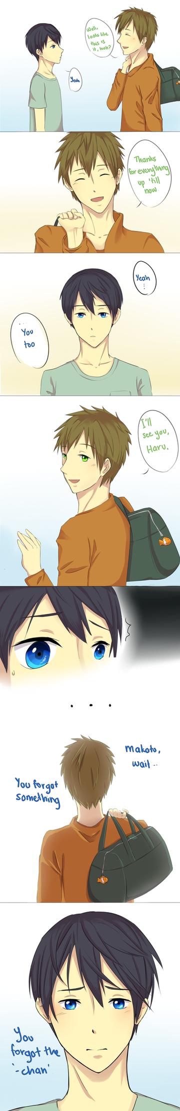 [MakoHaru] You Forgot The Chan by YerBestFriend99