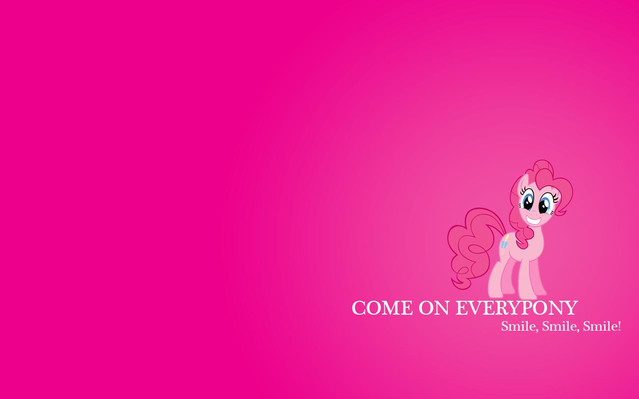 Pinkie Pie Smile Wallpaper by VampyricArts