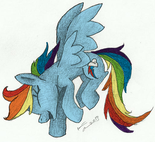 Rainbow Dash Rendering Colored by VampyricArts