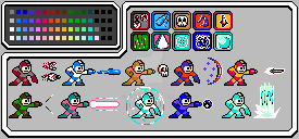 Terraria Weapons in the style of Mega Man (NES) by OQB123