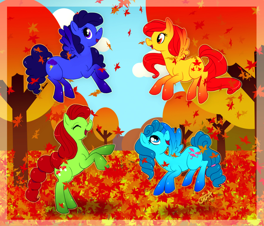 Autumn Ponies by uppuN
