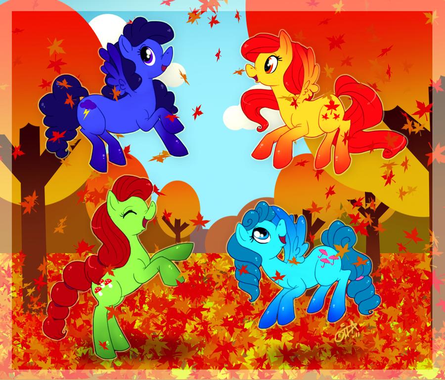 Autumn Ponies by uppuN