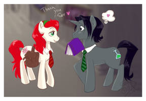 Lily and Severus ponies by uppuN