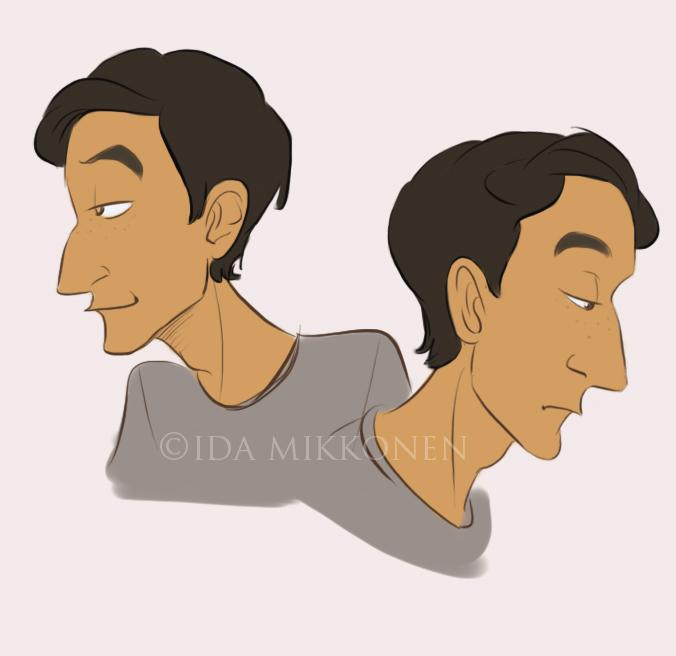 Danny Pudi face study by uppuN