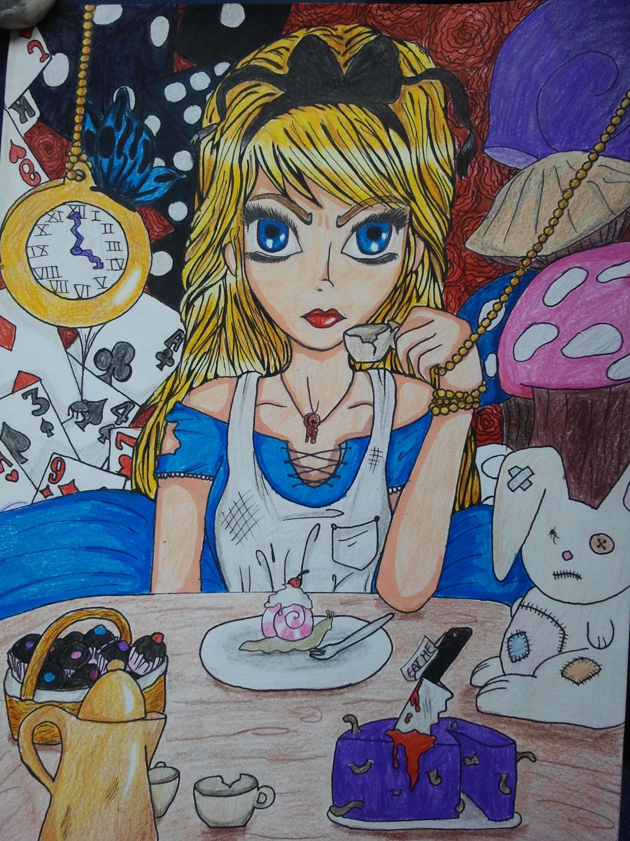Alice in wonderland alice aux pays des merveilles by - Decoration alice aux pays des merveilles ...