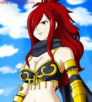 NightWalker Knight - Erza Scarlet by KiRaPL