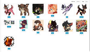 offer away on my characters//sale! open