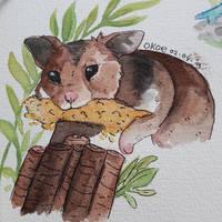 Rodie - watercolours