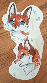 Foxes - watercolours