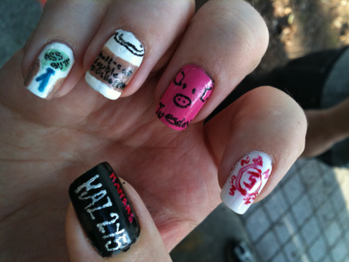 Supernatural Nails Part Two By Lostflame On Deviantart