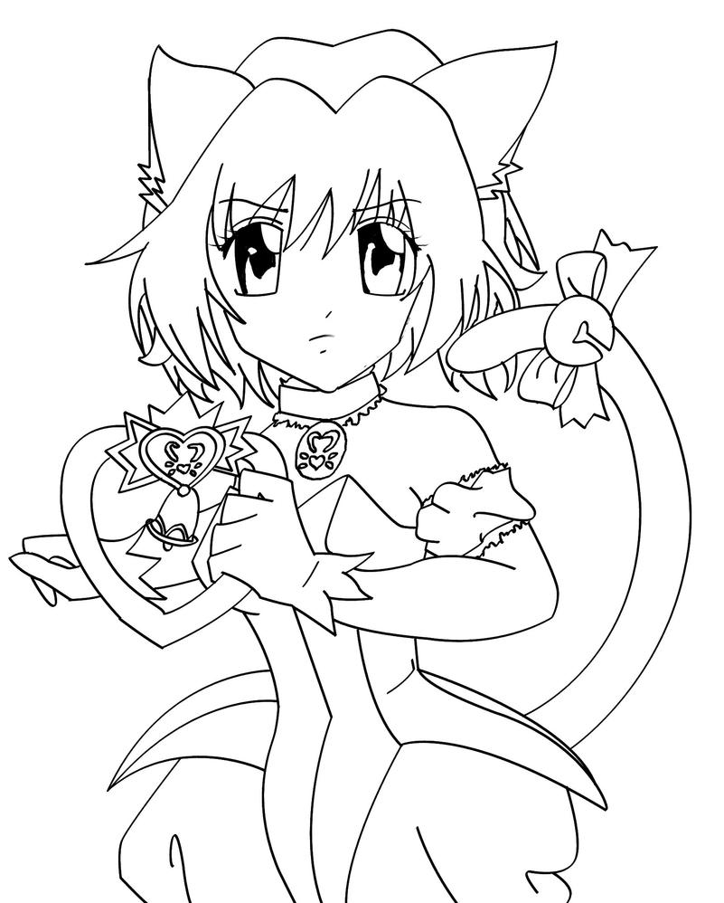 Mew ichigo lineart by catcat49 on deviantart for Ichigo coloring pages