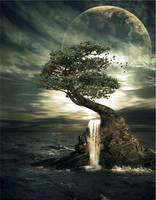 Moon light: waterfall by maariusz