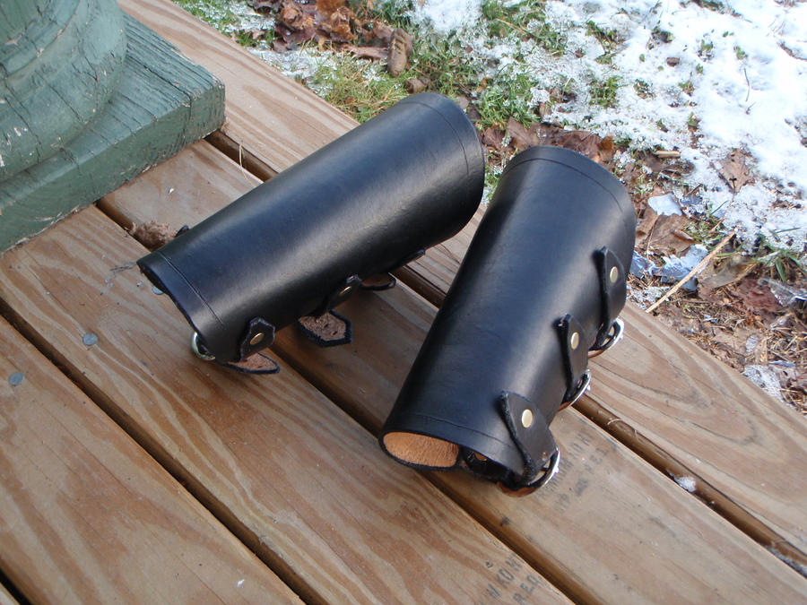 Leather Bracers by SteamViking