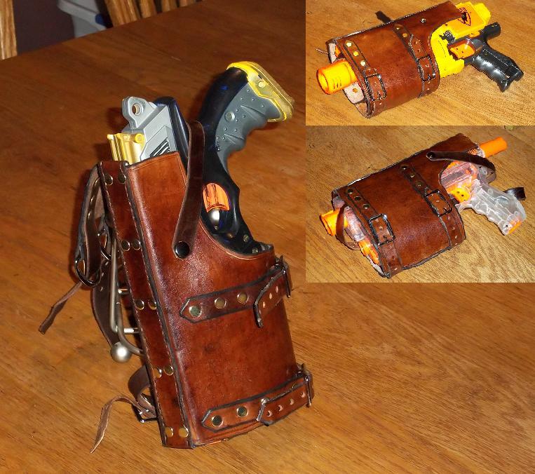 Western Styled Nerf Gun Holster - Closeup by SonsOfPlunderLeather ...