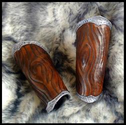 Woodgrain Druid Bracers by SteamViking