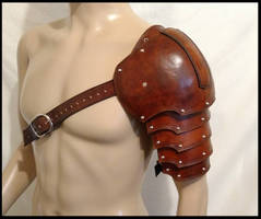 Warrior's Leather Pauldron by SteamViking