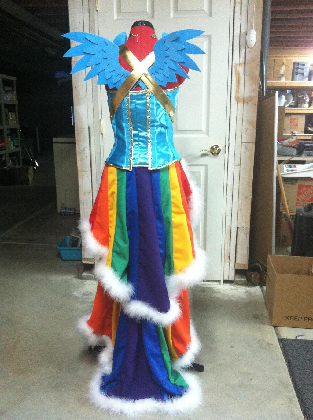 Rainbow Dash Dog Costume Jester Hat U Collar Sc St Pet
