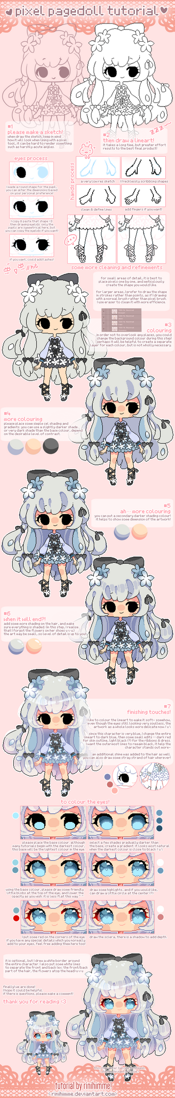 Rini's pixel pagedoll tutorial! by rinihimme