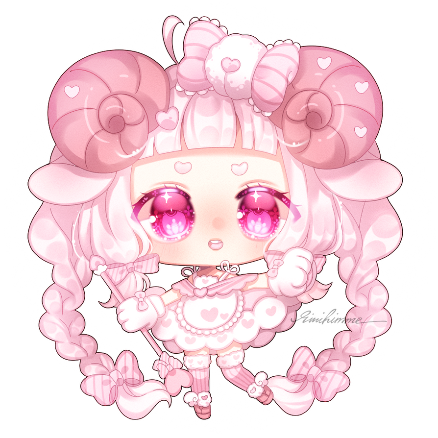 [at] milky pink aries by rinihimme