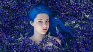 Blue Flower III by Swan-Lake