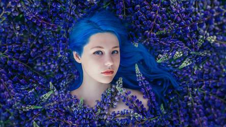 Blue Flower III