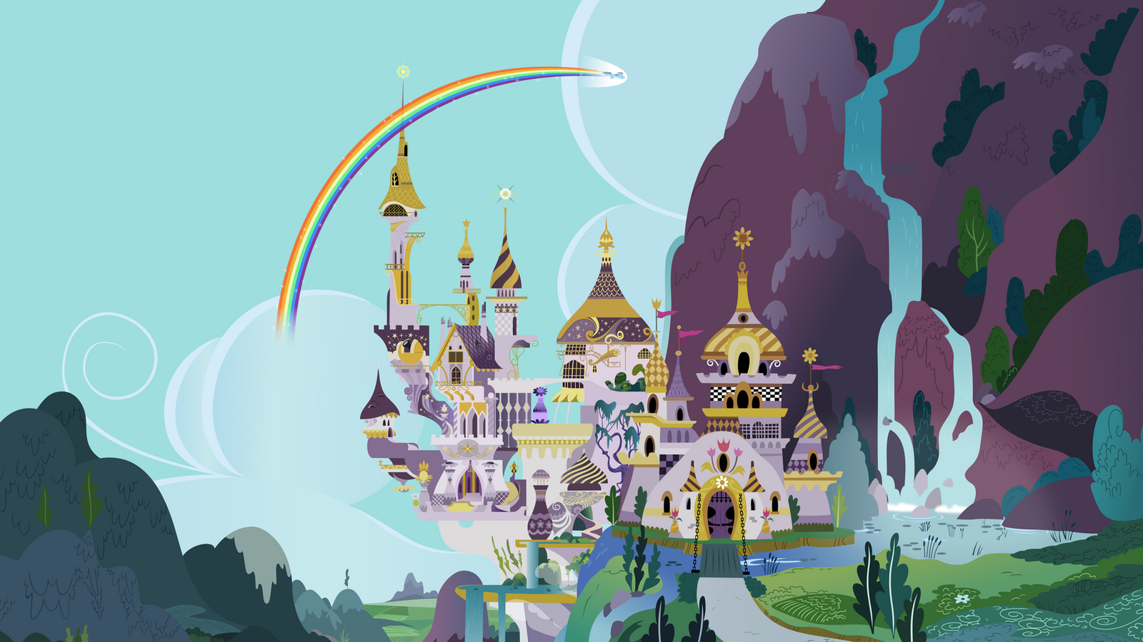 Group Background #2 - Canterlot Castle by MLP-Vector-Collabs