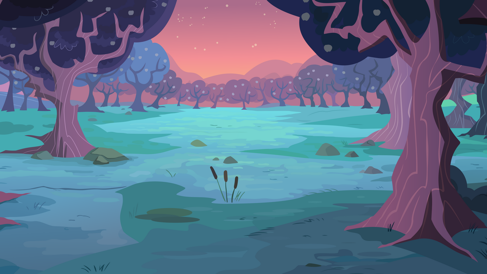 Group Background #6 - Orchard sunset